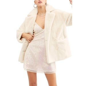 FP • kate faux fur jacket in ivory